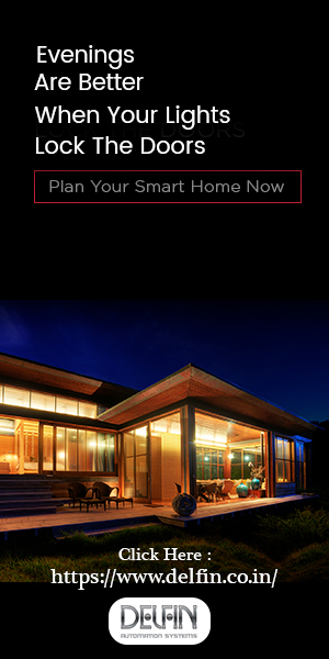 Beautifully lighted smart home with the text Evening Are Better When Your Lights Lock The Doors