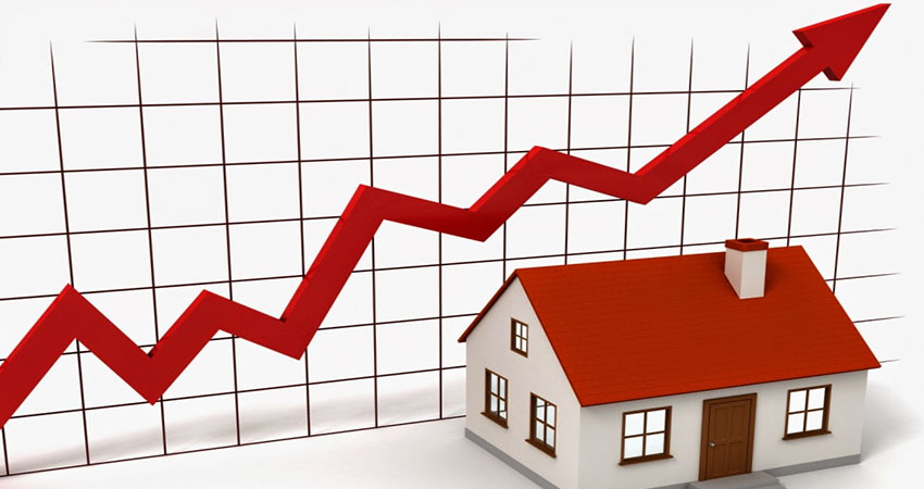 Image That Representing the gradual growth of real estate property's rate.